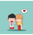Cute cartoon Wedding couple men and women vector image vector image