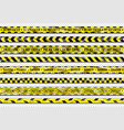 danger ribbon yellow caution tape with warning vector image vector image
