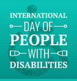 day of people with disabilities concept background vector image vector image