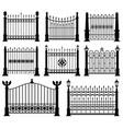 Decorative wrought fences and gates set