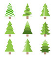 different style of pine tree icon flat design vector image vector image