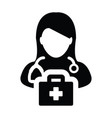 doctor icon female person profile avatar symbol vector image