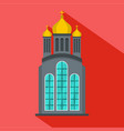 eastern church icon flat style vector image vector image