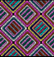 Embroidery geometric seamless pattern patchwork