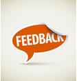 feedback speech bubble vector image vector image