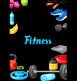 frame with fitness equipment vector image vector image