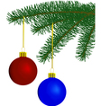 fur-tree with toys vector image