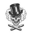 gentleman skull wearing cylinder hat vector image vector image