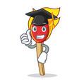 graduation match stick character cartoon vector image vector image