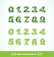 Green leaf logo number set vector image
