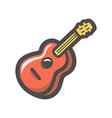 guitar musical instrument icon cartoon vector image vector image