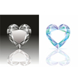 heart-shaped diamond vector image