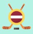 Hockey in Latvia vector image vector image