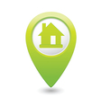 home icon green map pointer vector image