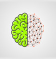 human brain with network part vector image vector image
