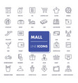 line icons set mall vector image