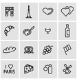 line paris icon set vector image vector image