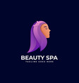 logo beautiful girl gradient colorful style vector image