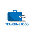 logo template for travel agency vector image vector image