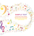 Musical Key with notes row vector image vector image