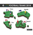 national soccer teams 2018 group c football vector image