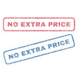 no extra price textile stamps vector image vector image