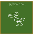 of animal symbol on waterbird vector image vector image
