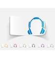realistic design element headphones vector image vector image