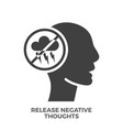 release negative thoughts glyph icon vector image vector image