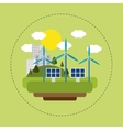 renewable energy solar wind city vector image vector image