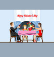 romantic family evening for valentines day vector image