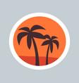 round sketch wonder palms vector image