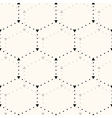Seamless hexagon pattern vector image