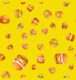 seamless pattern tasty burger grilled beef