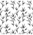 seamless pattern with black bamboo leaves and vector image vector image
