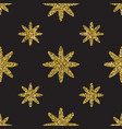 Seamless pattern with gold glitter textured stars vector image