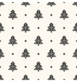 Seamless retro pattern christmas trees vector image