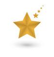 set of golden stars isolated on white background vector image