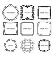 set of outline decorative vintage frame vector image vector image