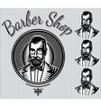 set of templates for hairdresser gentlemen vector image vector image