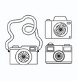 set photographic cameras icons vector image