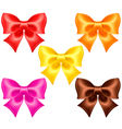 Silk bows in warm colors vector image vector image