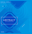 social media post template abstract background vector image vector image