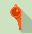 sport whistle icon flat style vector image vector image