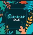 summer sale banner summer sale poster design for vector image vector image