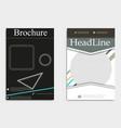 template design layout brochure geometric vector image vector image