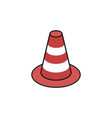 traffic cone construction composition vector image vector image