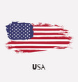 usa watercolor national country flag icon vector image