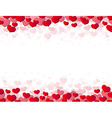 Valentines Day card with scattered hearts vector image vector image