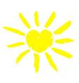 watercolor sun icon vector image vector image
